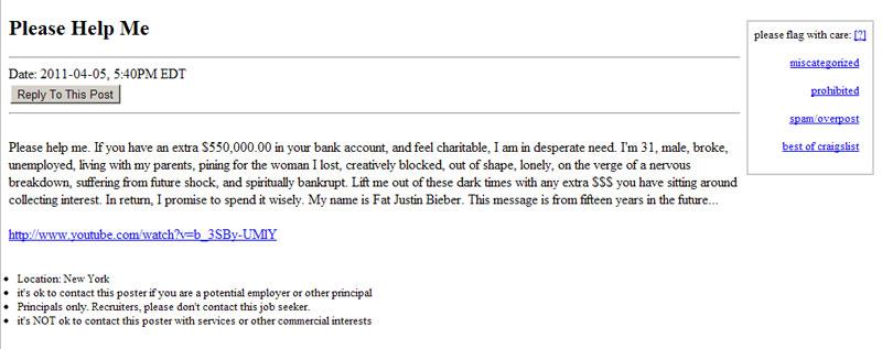 craigslist resume 1 04062011